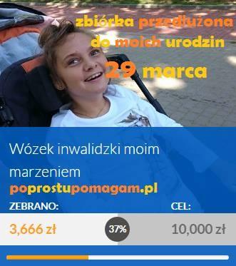 Krynica Morska. Pomoc dla ciężko chorej Ady. Zbieramy na wózek do 29.03.2017
