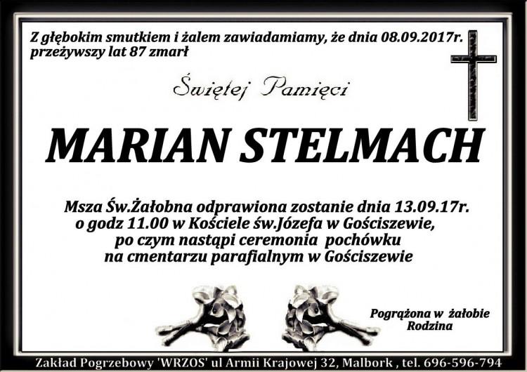 Zmarł Marian Stelmach. Żył 87 lat.