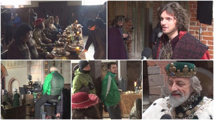 Malbork: Odwiedziliśmy plan filmowy Korony Królów! 150-osobowa ekipa i ok. 80 statystów – 30.01.2018