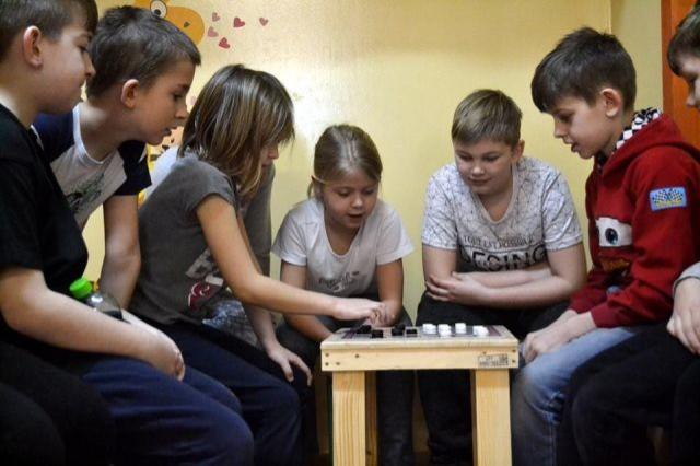 Kącik warcabowy w Zespole Szkół w Sztutowie - 16.02.2018