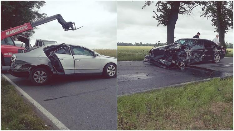 Kościeleczki: zderzenie czołowe samochodów osobowych. Jeden z kierowców nie żyje