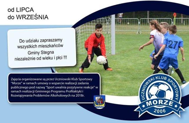Gmina Stegna: Zapraszamy na bezpłatne zajęcia rekreacyjno-sportowe.