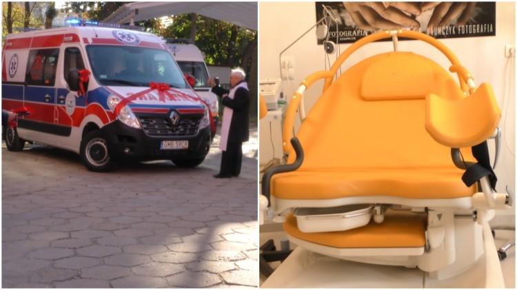 Porodówka z nowymi łóżkami - szpital otrzymał również karetkę.