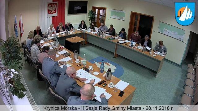 II Sesja Rady Miejskiej w Krynicy Morskiej - retransmisja