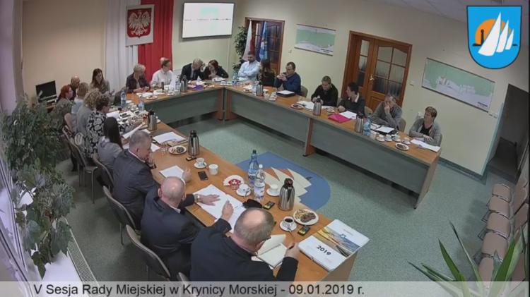 V sesja Rady Miejskiej w Krynicy Morskiej. Zobacz na żywo