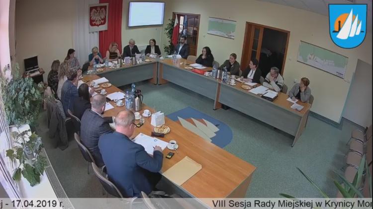 VIII Sesja Rady Miejskiej w Krynicy Morskiej. Zobacz na żywo