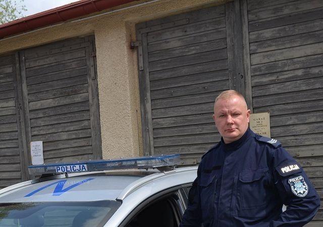 Nowy Dwór Gdański: Szybka decyzja policjanta uratowała życie mężczyźnie
