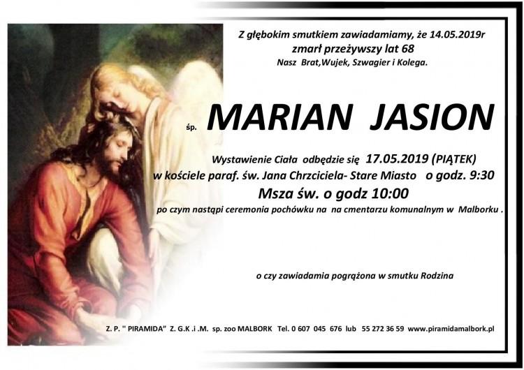Zmarł Marian Jasion. Żył 68 lat