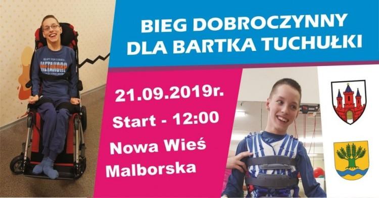 Bieg i Festyn Dobroczynny dla Bartka Tuchułki w Nowej Wsi Malborskiej.