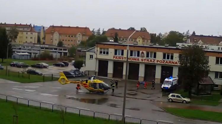 Pacjentka z podejrzeniem udaru przetransportowana LPR do Elbląga.