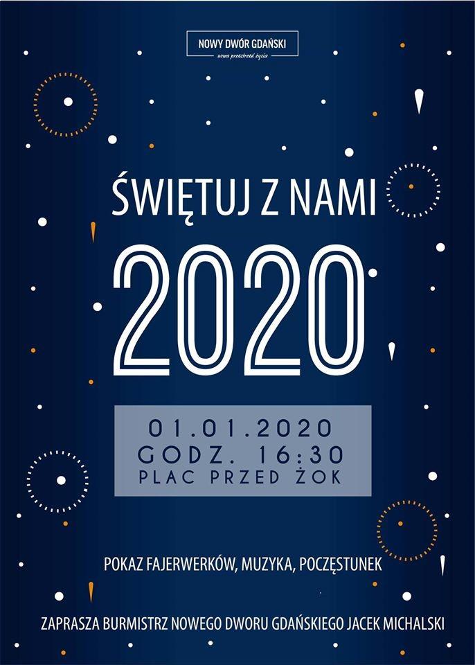 Mieszkańcy Nowego Dworu Gdańskiego przywitają wspólnie Nowy Rok 2020. Zobacz na żywo na kamerach podowych