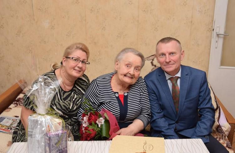 Pani Halina Jędraszko obchodzi jubileusz 90.urodzin