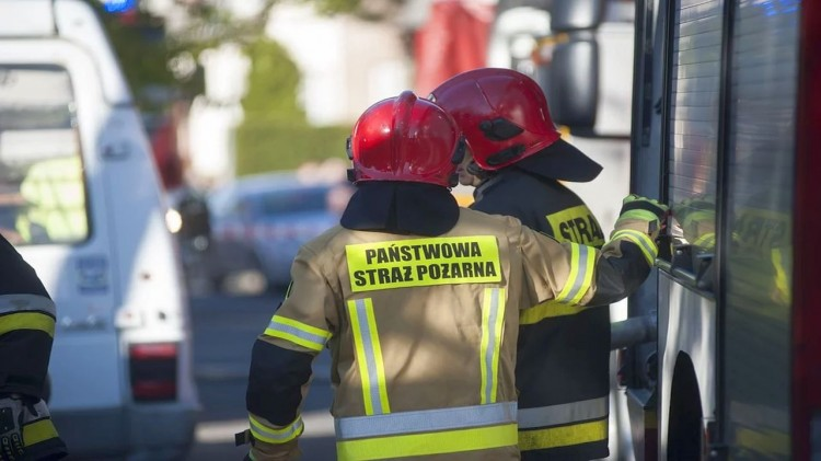 Skutki niżu Sabina – raport nowodworskich służb mundurowych.