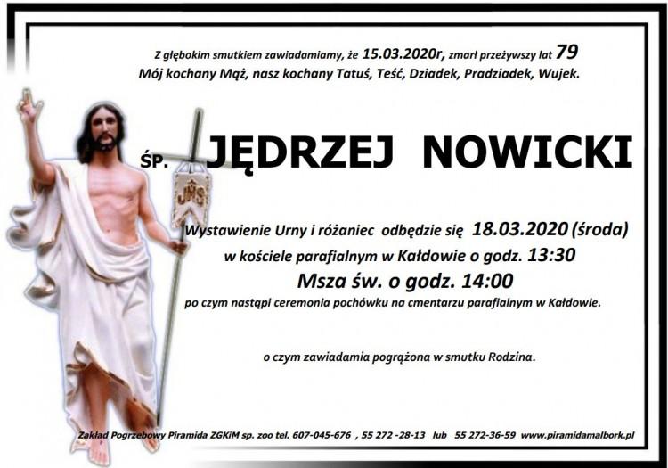 Zmarł Jędrzej Nowicki. Żył 79 lat.