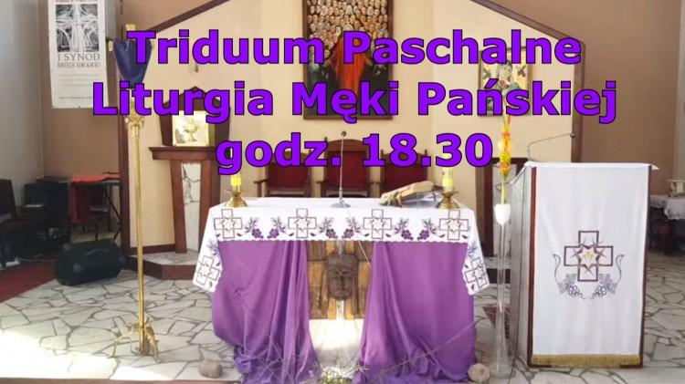 Liturgia Męki Pańskiej na żywo w Telewizji Malbork o godzinie 18.30.