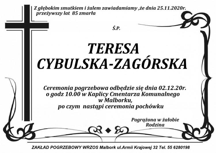 Zmarła Teresa Cybulska - Zagórska. Żyła 85 lat.