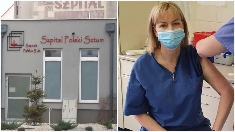 """""""Jesteśmy gotowi szczepić również w weekendy"""" - zapewnia szpital w Sztumie."""