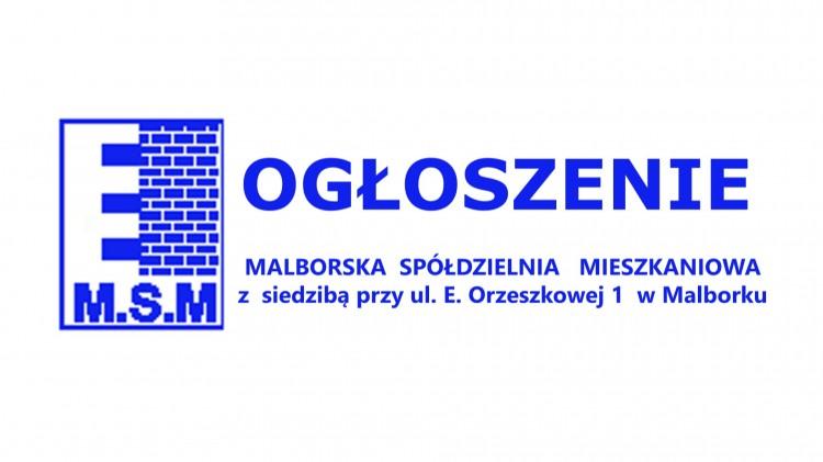 Remont klatek schodowych, elewacji i budowa instalacji ciepłej wody Malborska Spółdzielnia Mieszkaniowa ogłasza przetargi.