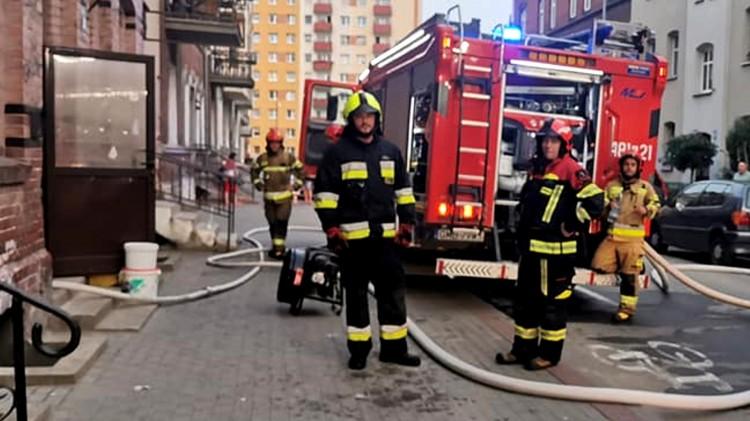 Malbork. Poranna akcja strażaków na Orzeszkowej.
