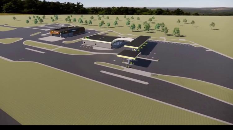 Stacja paliw, parking i McDonald's powstają przy trasie S7