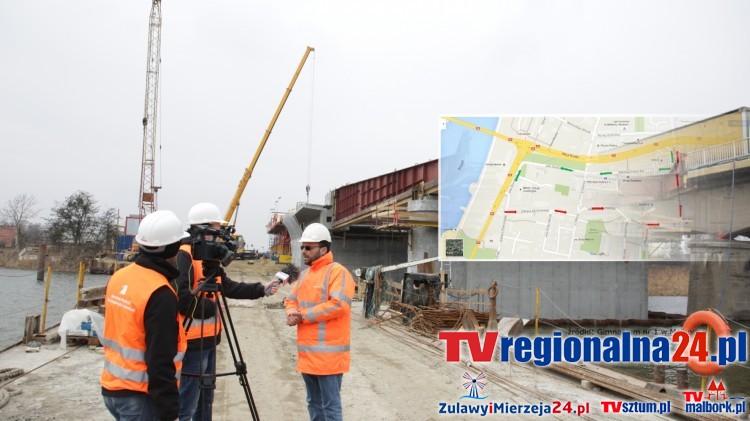Malbork: Informacja rzecznika była błędna. Objazd zostanie wprowadzony z 10 na 11 marca. Raport z budowy II nitki mostu – 03.03.2016