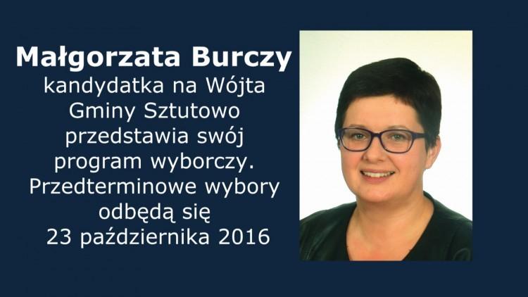 Małgorzata Burczy kandydatka na Wójta Gminy Sztutowo przedstawia swój…