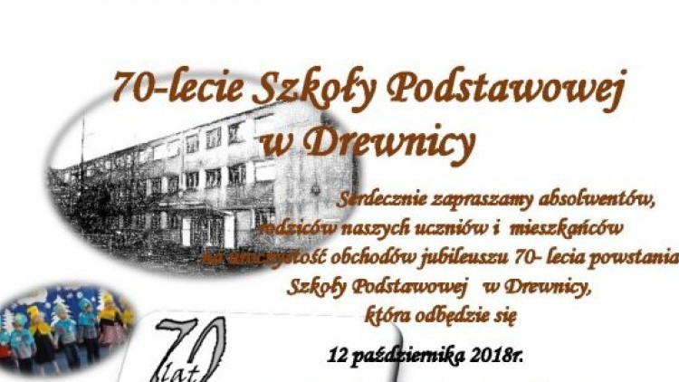 70-lecie Szkoły Podstawowej w Drewnicy.