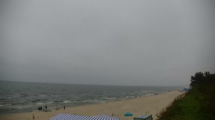 Aktualna pogoda w Krynicy Morskiej na plaży Krynica Morska Hotel Continental Aquapark. Morze Bałtyckie wejście nr 24.