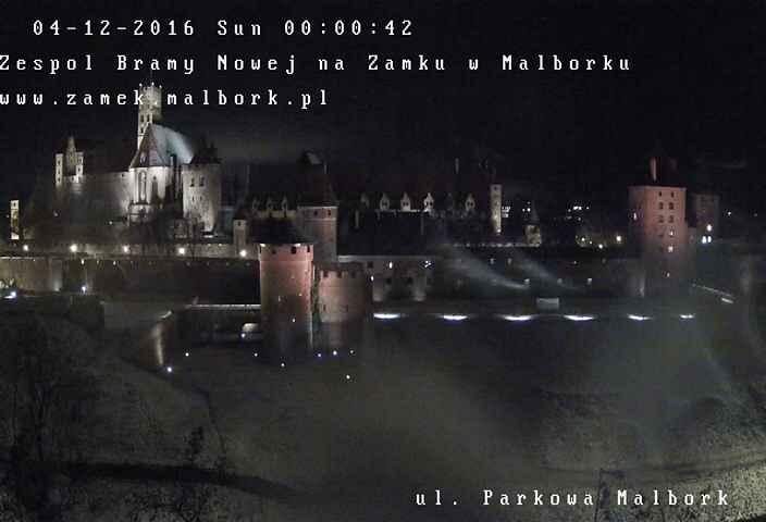 Malborska Madonna - Zespół Bramy Nowej na Zamku w Malborku na żywo ul. Parkowa