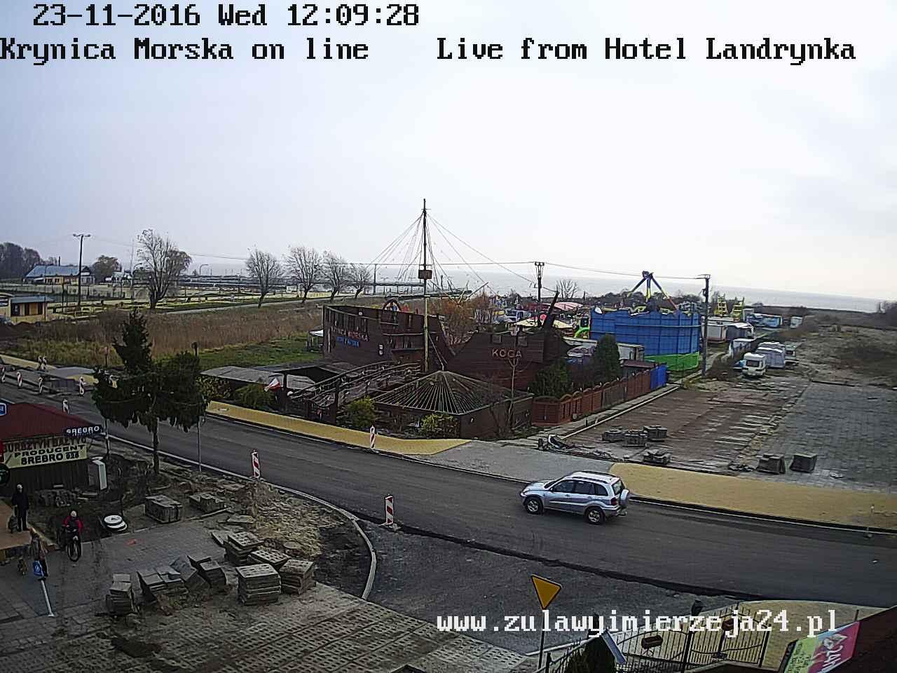 Krynica Morska zalew wiślany aktualna pogoda, hotel landrynka