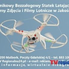 Wykonujemy Zdjęcia i Filmy Lotnicze w Jakości Full HD - Wielowirnikowy Bezzałogowy Statek Latający - Dron - Biały 24 TvMalbork.pl