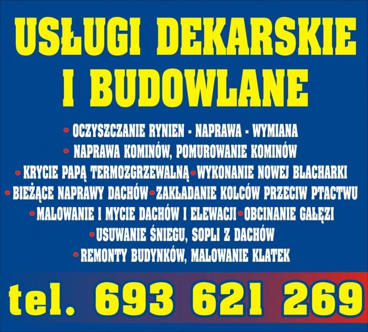 Usługi Podnośnikowo-Dekarskie Dariusz Mikuła. Usługi dekarskie, usługi blacharskie