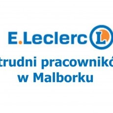 Firma ELBLĄGDIS Sp z o. o. zatrudni pracowników. Miejsce pracy: E. Leclerc Malbork ul. Sikorskiego 2