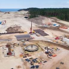 Potęp prac przy budowie drogi wodnej łączącej Zalew Wiślany z Zatoką…