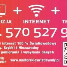 Internet światłowodowy Malbork, Nowy Staw, Nowy Dwór Gdański