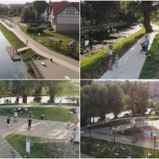 Bulwaru wzdłuż rzeki Tugi w Nowym Dworze Gdańskim gotowy. Zobacz wideo…