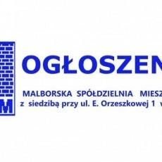 Malborska Spółdzielnia Mieszkaniowa w Malborku OGŁASZA NABÓR NA WOLNE STANOWISKO PRACY
